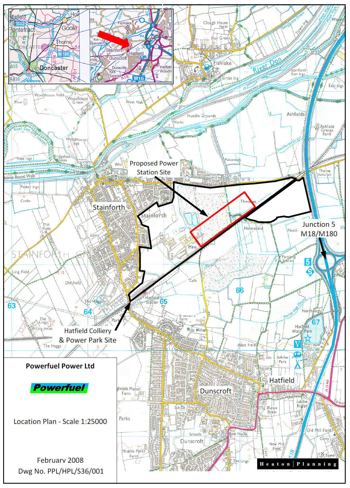 Hatfield colliery application for a 900 mw power for Site plans online